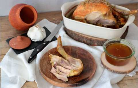 poulet rôti cuisson basse température aux épices