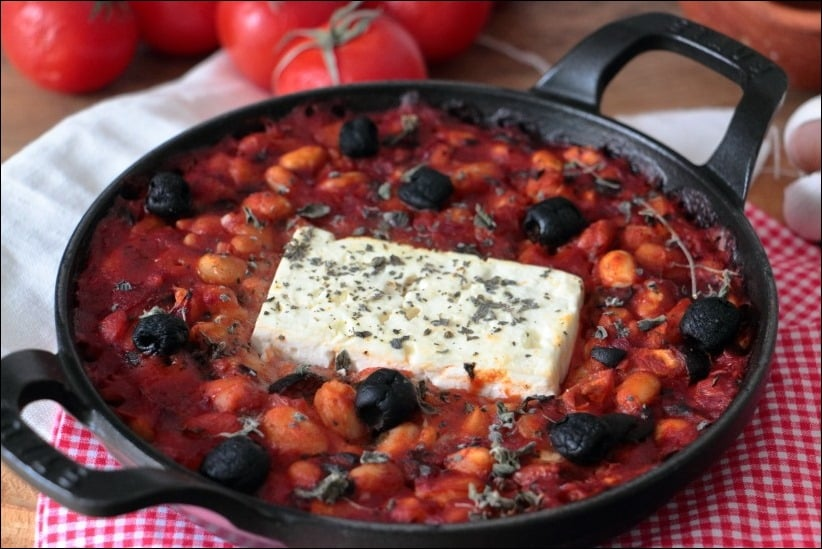 feta rotie haricots blancs sauce tomate thym