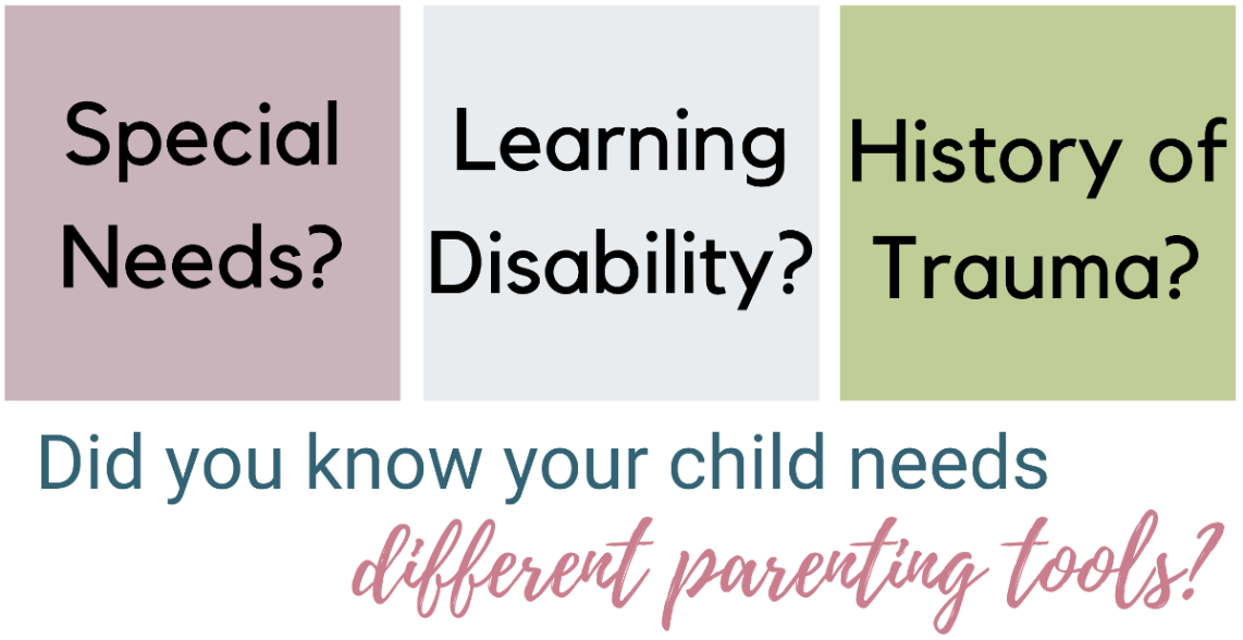 A child with special needs, a learning disability or trauma requires different tools to parent effectively