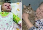 cat rescued abandoned baby
