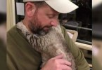 Shy Cat Waiting For Adoption, But When She Sees Her New Daddy She Wraps Her Arms Around Him