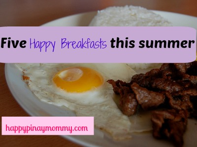 five happy breakfasts this summer
