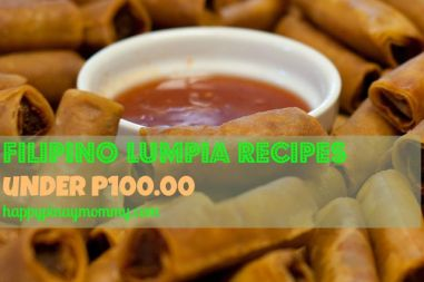 Filipino Lumpia Recipes under P100.00