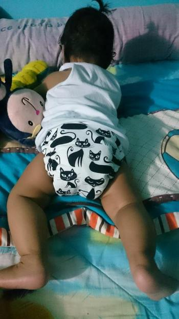 Tahi Kho Hybrid Fitted Cloth Diaper.