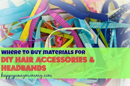 materials for headbands and hair accessories in the Philippines