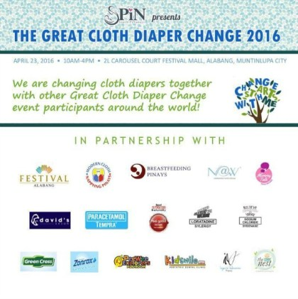 Southern PiNanay'sparticipate once again in the annual Great Cloth Diaper Change.