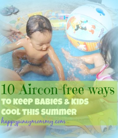 Aircon-free ways to keep babies and kids cool this summer