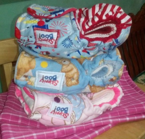 Skippity Boo! Hybrid Fitted Cloth Diapers. (Photo taken from the FB Page of Skippity Boo!)