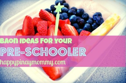 Snack Baon Ideas for Pre-schoolers