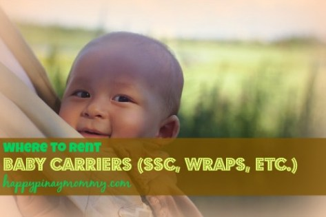 Where to Rent Baby Carriers in the Philippines. (Photo Credits)