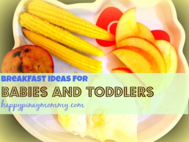 Breakfast Ideas for Filipino Babies.