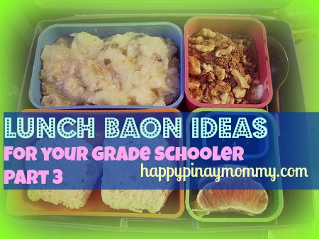 Here is the third installment in our series of School Lunch Baon Ideas for Kids. (Photo Credits)