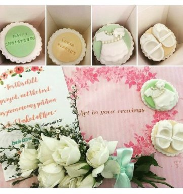 Sweets for the sweetest Godparents! These cute Christening cupcake boxes are too fab and yummy.
