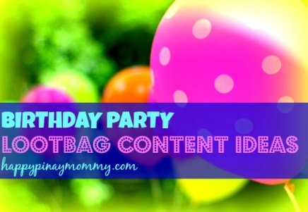 Looking for Birthday Party Loot bag Content Ideas in the Philippines? Read up. (Photo Credits)