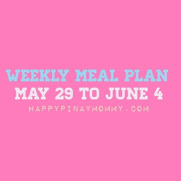 Sharing our Filipino Weekly Meal Plan