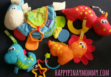 Soft teething toys are great for teething too!