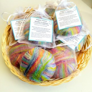 felted soaps in bags
