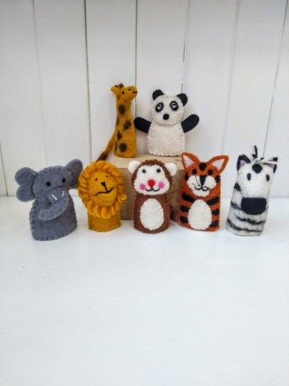 jungle finger puppets
