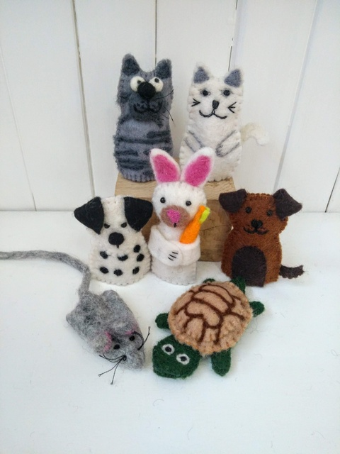 pet finger puppets