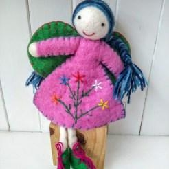 blue plaits pink fairy