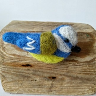 blue tit brooch