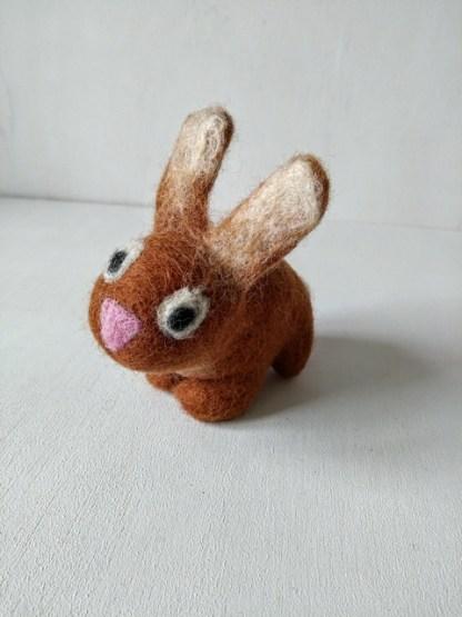 felt brown bunny