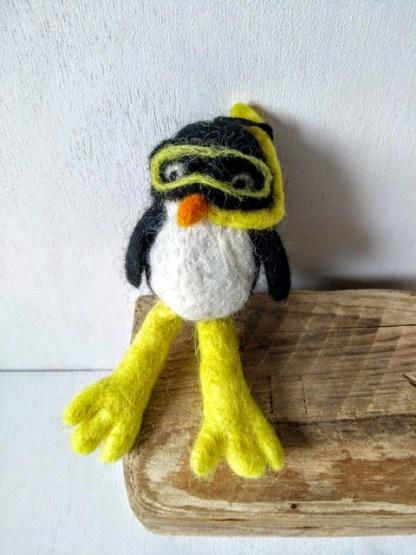 felt scuba penguin