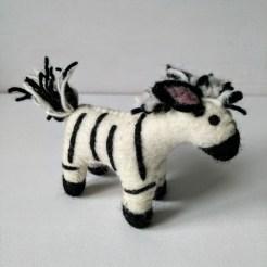 felt zebra