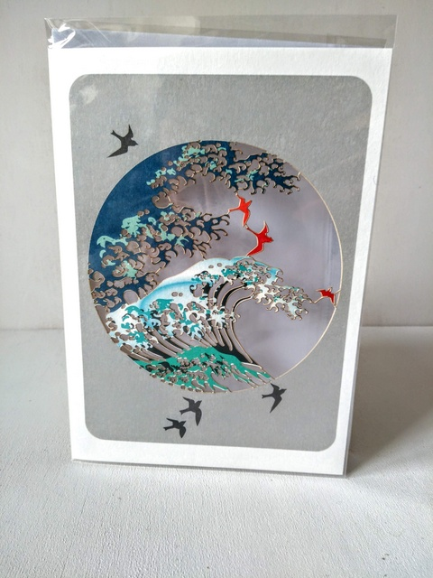 japanese wave card