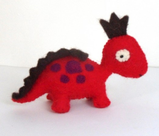 small red and purple dino