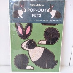 Pop up rabbit card