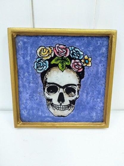 crown of roses frame purple