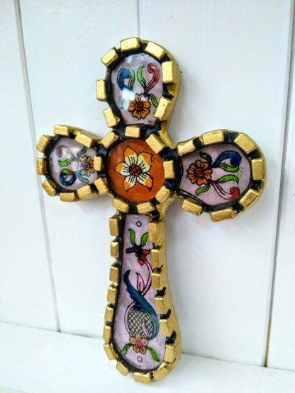 folk art cross