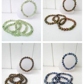 Natural Crystal Power Bracelets