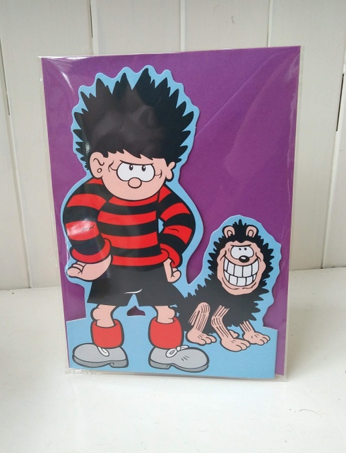 deniis and gnasher stand up card