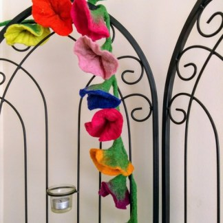 multi coloured flower garland 2