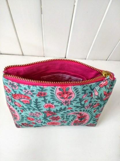 pink printed make up bag 2