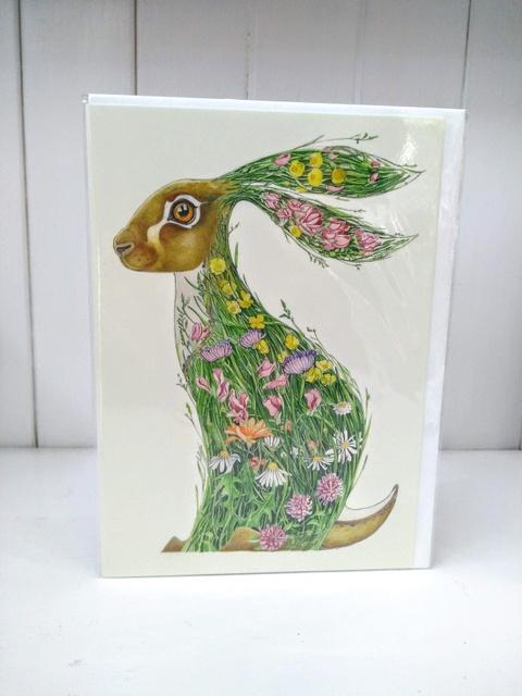 meadow rabbit card