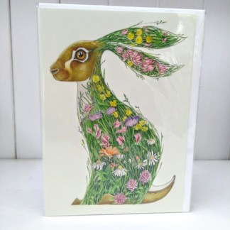 meadow rabbit card