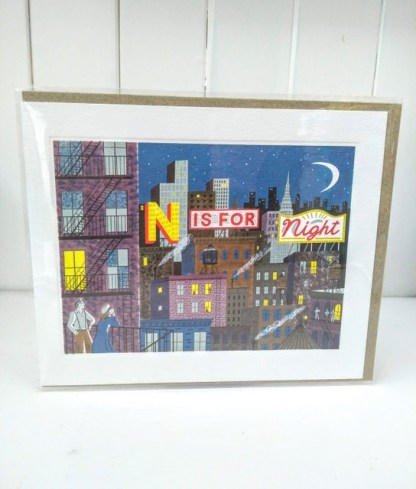 n is for night card