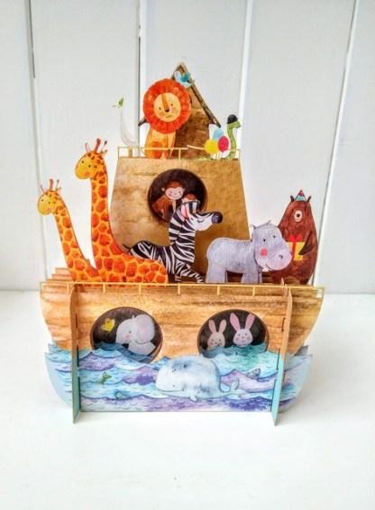 noahs ark pop up card 2