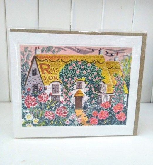 r is for rose card
