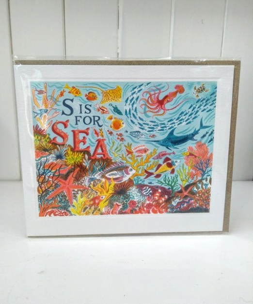 s is for sea card