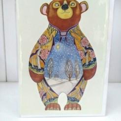 winter bear card