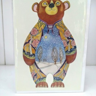 winter bear card
