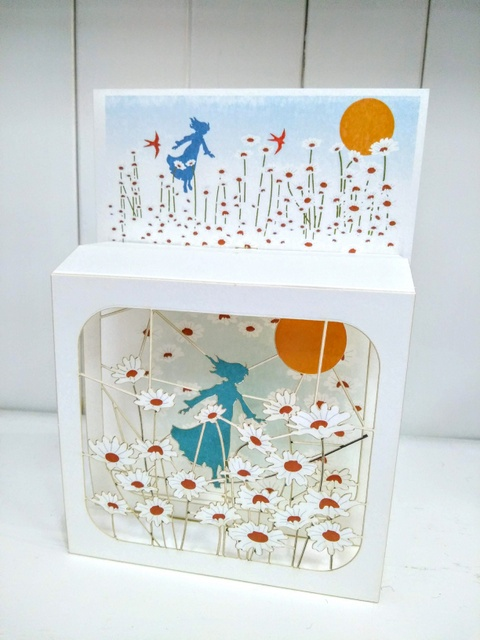 daisy field magi box card