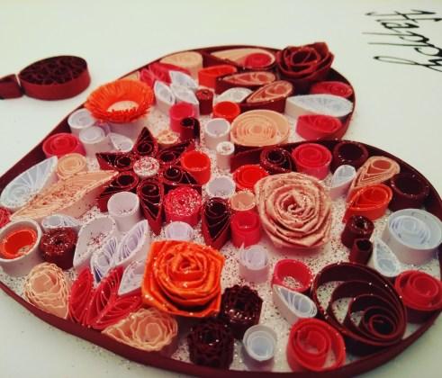 Gros plan Coeur de fleurs