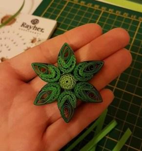 fleur quilling papier gaufré