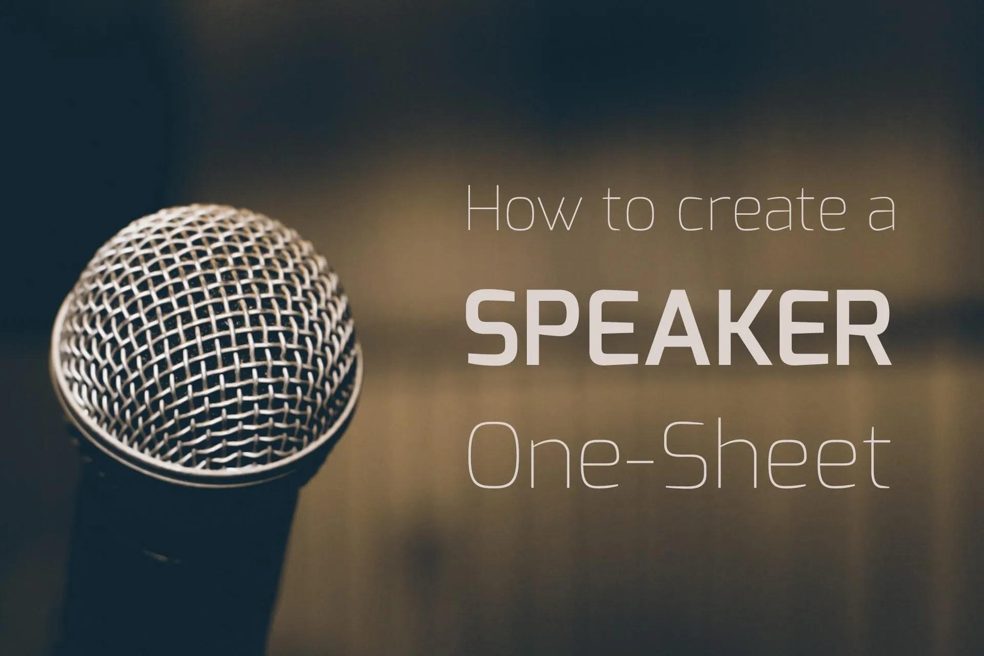speaker one-sheet