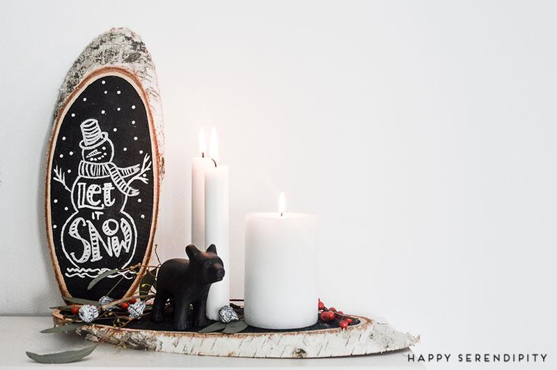 birkenscheiben mit weihnachtlicher deko von happy serendipity